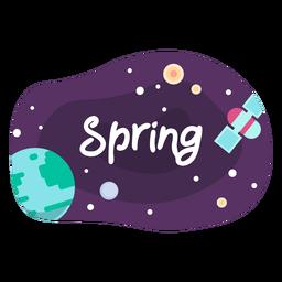 Icono de etiqueta de espacio de primavera