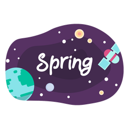 Spring space sticker icon