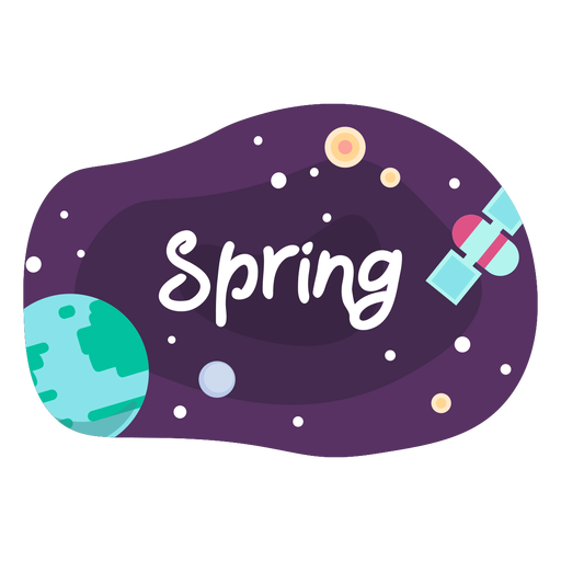 Spring space sticker icon Transparent PNG