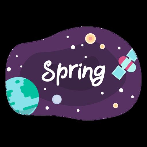 Spring space sticker icon