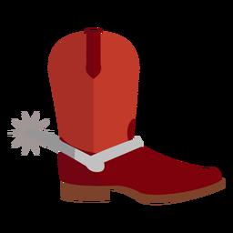 Ícone de bota de cowboy de espora