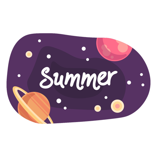 Summer space sticker icon Transparent PNG