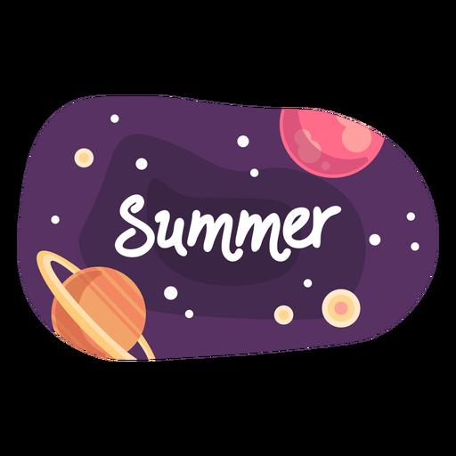 Summer space sticker icon