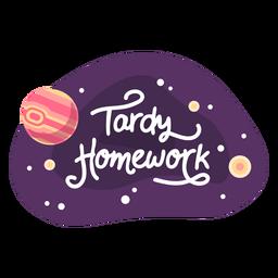 Icono de etiqueta de espacio de tarea tardía