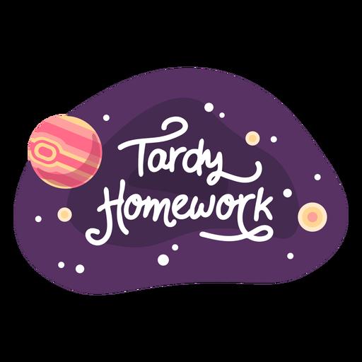 Icono de etiqueta de espacio de tarea tardía Transparent PNG