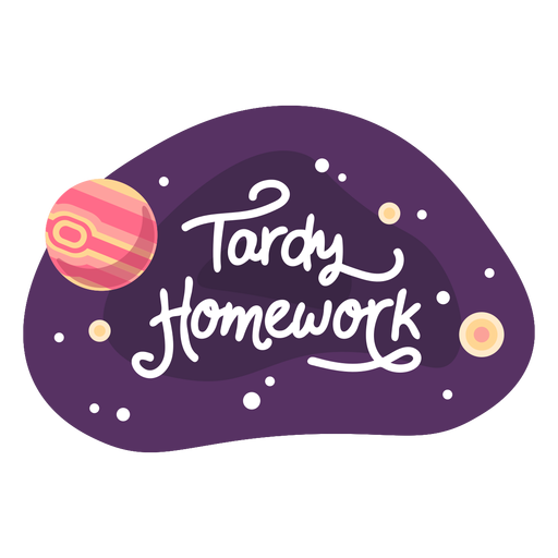 Tardy homework space sticker icon