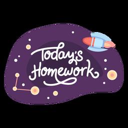 Hoje lição de casa espaço adesivo ícone