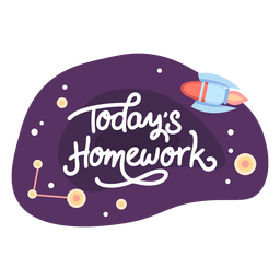 Today homework space sticker icon