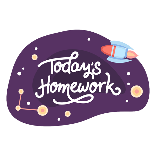 Today homework space sticker icon Transparent PNG