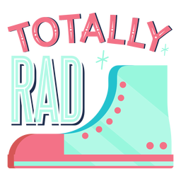 Totally rad lettering
