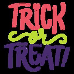 Doces ou travessuras letras de halloween