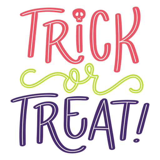 Trick or treat halloween lettering Transparent PNG