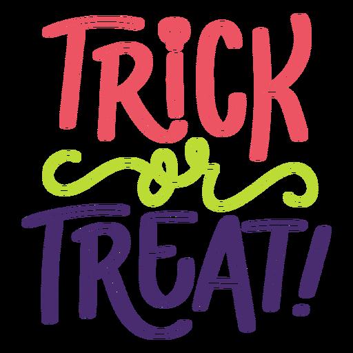 Truco o trato letras de halloween Transparent PNG