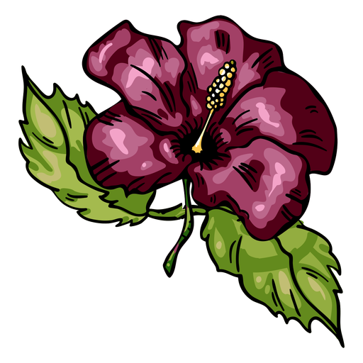 Tropical flower hibiscus Transparent PNG