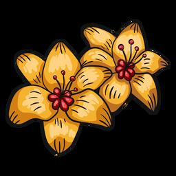 Flor tropical lírio amarelo