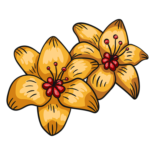 Tropical flower yellow lily Transparent PNG