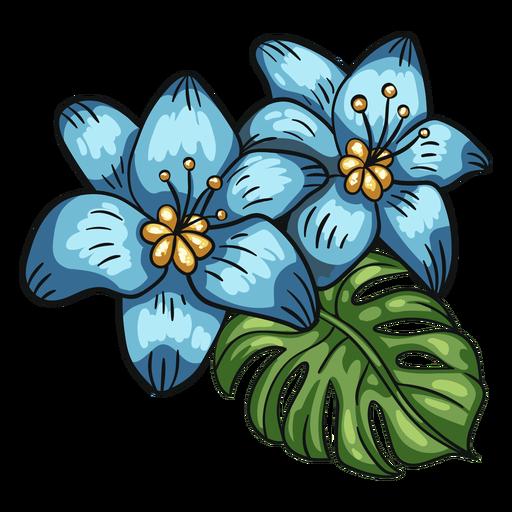 Tropical flowers leaf arrangement lily Transparent PNG