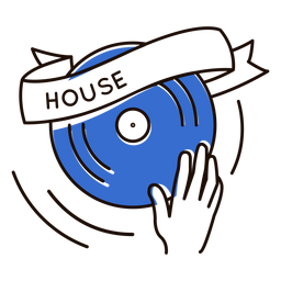 Turntable house music symbol