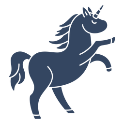 Unicorn cut out black