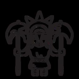 Vichama inca esquema de mitología