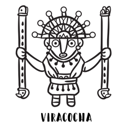Esboço da mitologia inca de Viracocha