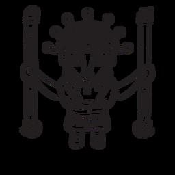 Esquema de la mitología inca de Viracocha
