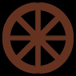 Icono de corte de rueda de carro