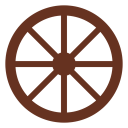 Wagon wheel cut out icon