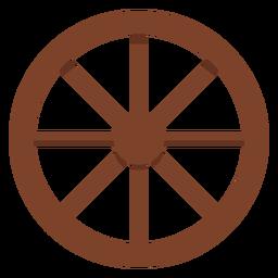 Icono de rueda de carro