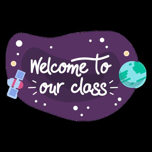 Icono de etiqueta de espacio de clase de bienvenida Transparent PNG