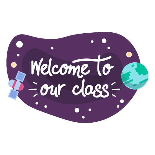 Welcome class space sticker icon