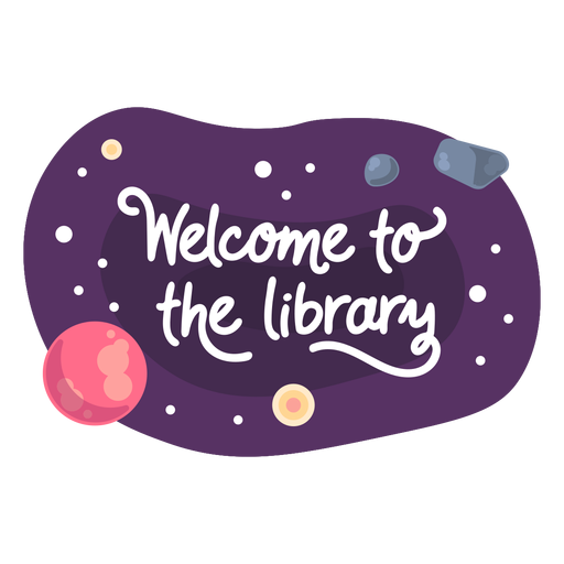 Welcome library space sticker icon
