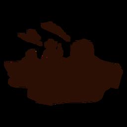 Cena ocidental do deserto da vaqueira cortada preto