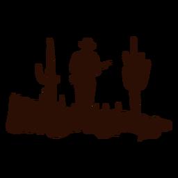 Cena de patrulha ocidental da guarda florestal cortada preto