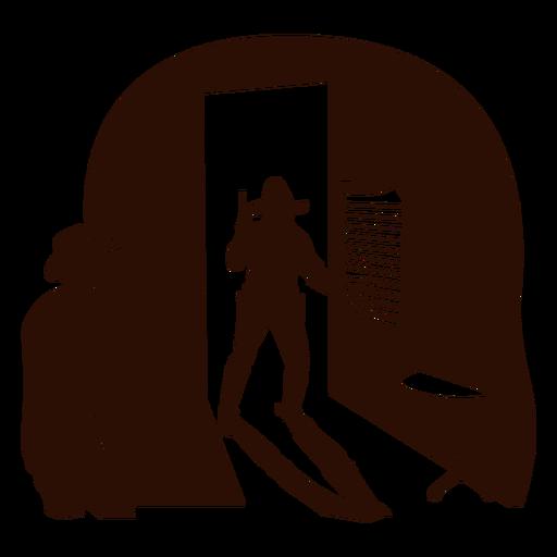 Escena del salón occidental cortado negro Transparent PNG