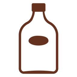 Whiskey bottle cut out icon