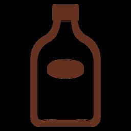 Whisky-Flasche Symbol ausgeschnitten