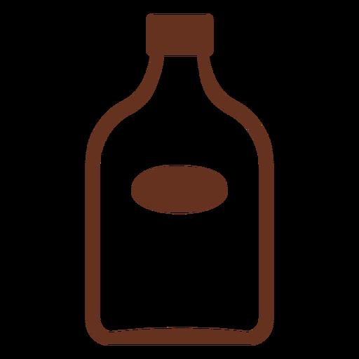 Icono de corte de botella de whisky Transparent PNG