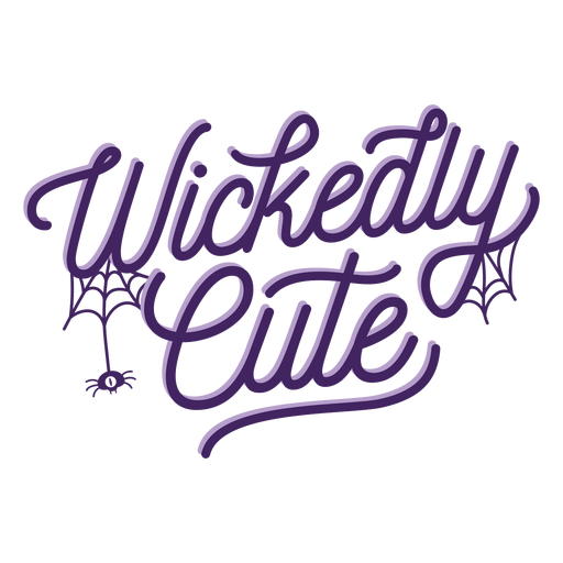Wickedly cute halloween lettering Transparent PNG