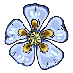 Aguileña azul flor silvestre