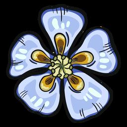 Wild flower blue columbine