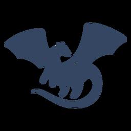 Dragón extendido ala recortada negro