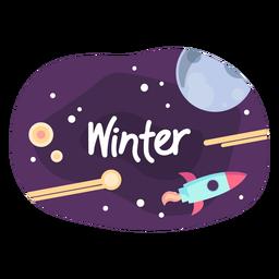 Ícone de etiqueta de espaço de inverno