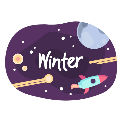 Winter space sticker icon Transparent PNG
