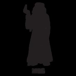 Zeus mão desenhada recortar preto