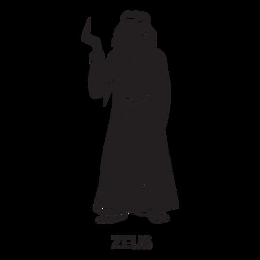 Zeus dibujado a mano cortado negro Transparent PNG