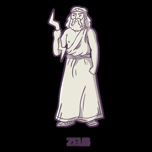 Zeus gris dibujado a mano Transparent PNG