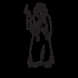 Contorno desenhado de mão de Zeus