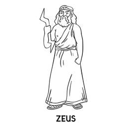 Zeus hand drawn outline