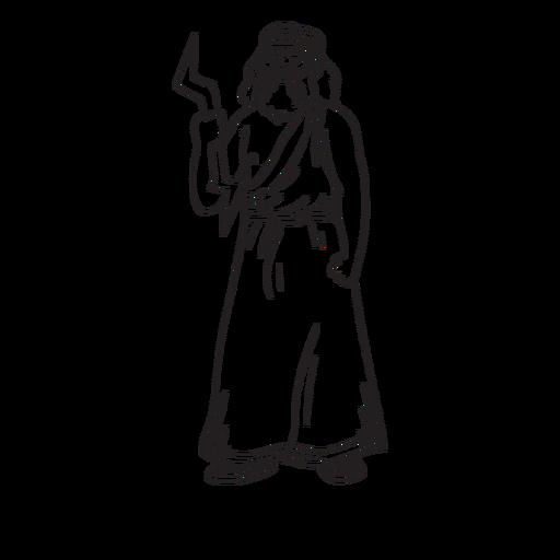 Esquema dibujado a mano Zeus Transparent PNG